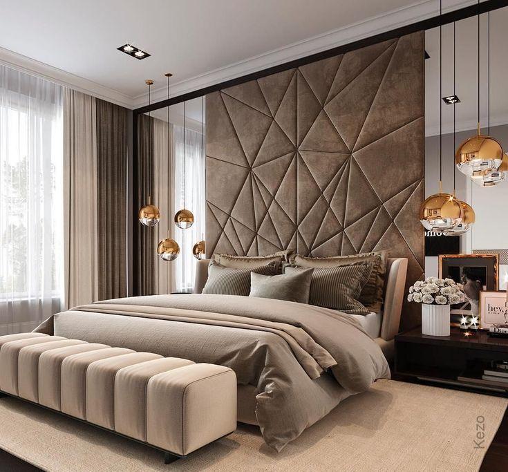 Heia Schlafzimmer Dekor Kopfteil Kopfteil Entwurf Innenarchitekt Materialien Minimalistisch Luxurious Bedrooms Luxury Bedroom Master Bedroom Interior Best bedroom design modern