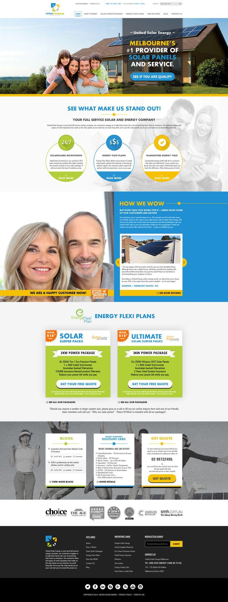 United Solar Energy Website Design