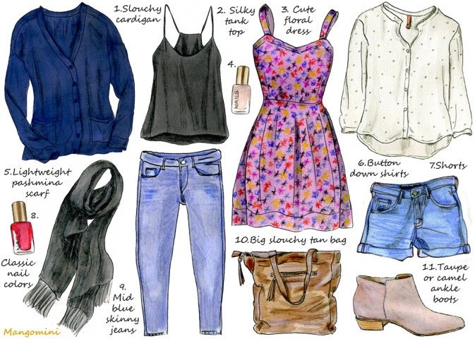 How To Build The Perfect Dual-Season Wardrobe...helpful for packing on short trips!