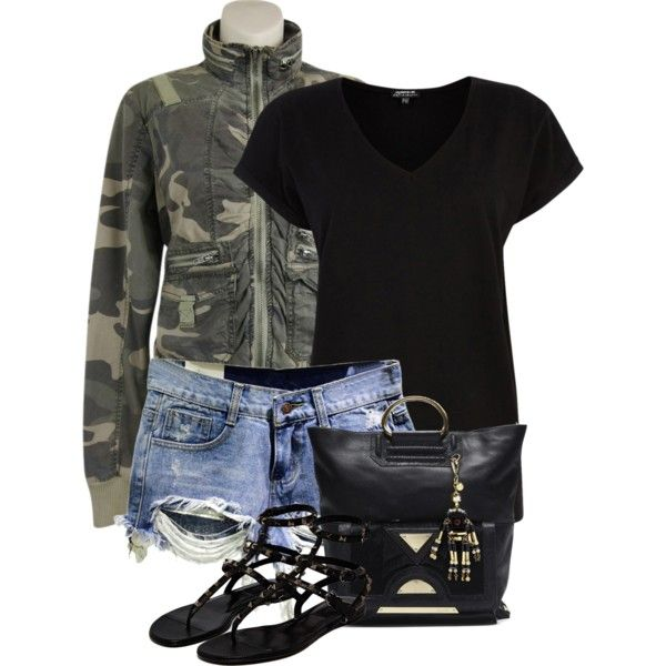 Untitled #239 by leehyena on Polyvore featuring Warehouse, Twill Twenty Two and Valentino