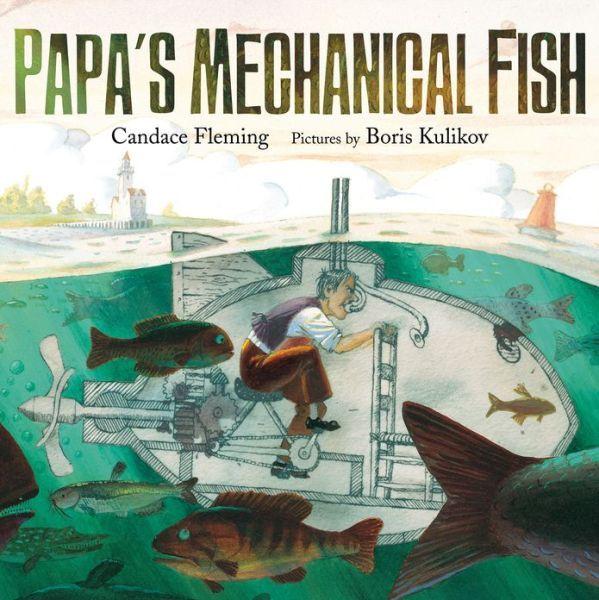 "Boris Kulikov illustration for ""Papa's Mechanical Fish""."