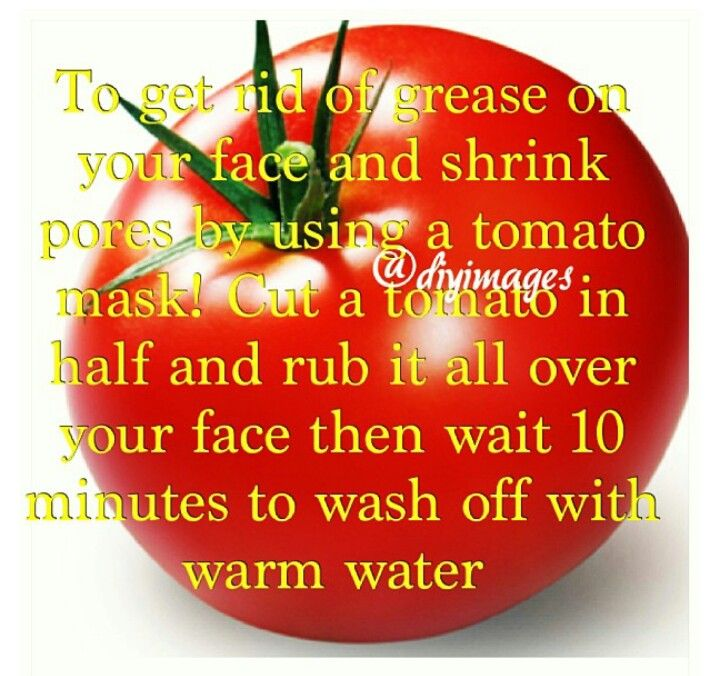 Tomato mask for greasy face and bid pores