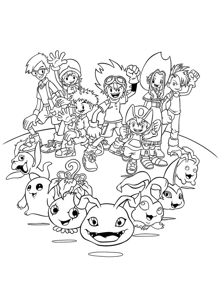 25 Best Theme Digimon Manga Images On Pinterest