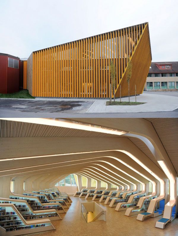 Vennesla Library and Culture House, designed by Helen & Hard, Vennesla, Norway #architecture #design