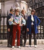 HERD UK pop group in 1966. From left  Andrew Steele, Peter Frampton, Gary Taylor, Andy Bown - Stock Photo