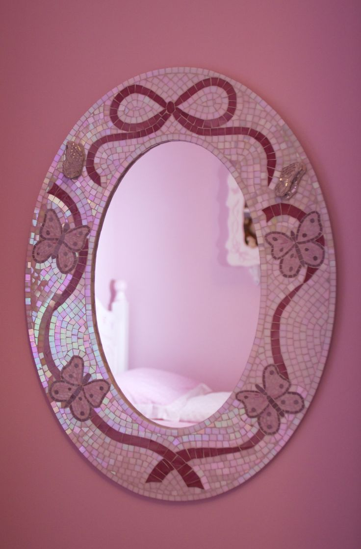 Commissioned mirror for a little girls bedroom
