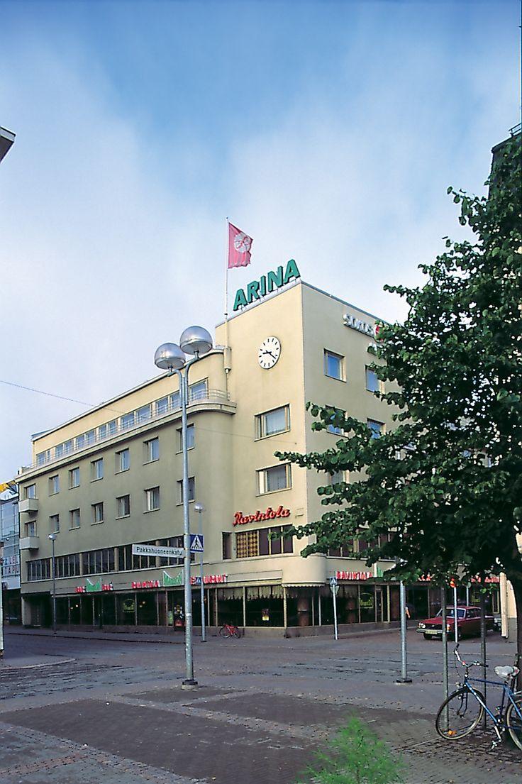 Hotelli Arina, Oulu, vanha rakennus 1997.