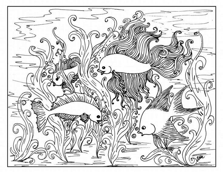 79 best coloring mermaids merman under the sea creatures fish difficult coloring pages