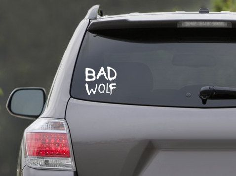 Hey, I found this really awesome Etsy listing at https://www.etsy.com/listing/112882346/dr-who-bad-wolf-vinyl-decal