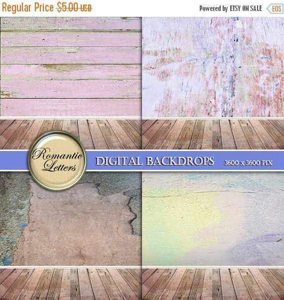 SALE-50% Digital backdrop for Newborn digital by RomanticLetters