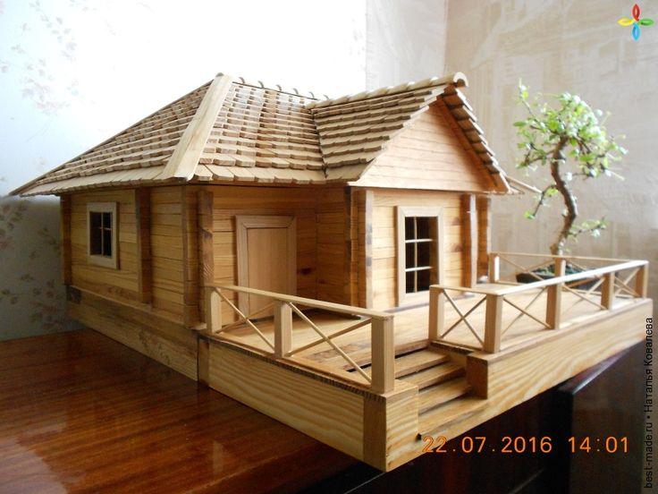 Макет брусового дома .( 1: 20), акация, дуб, лиственница, ясень | Bestmade - изделия ручной работы