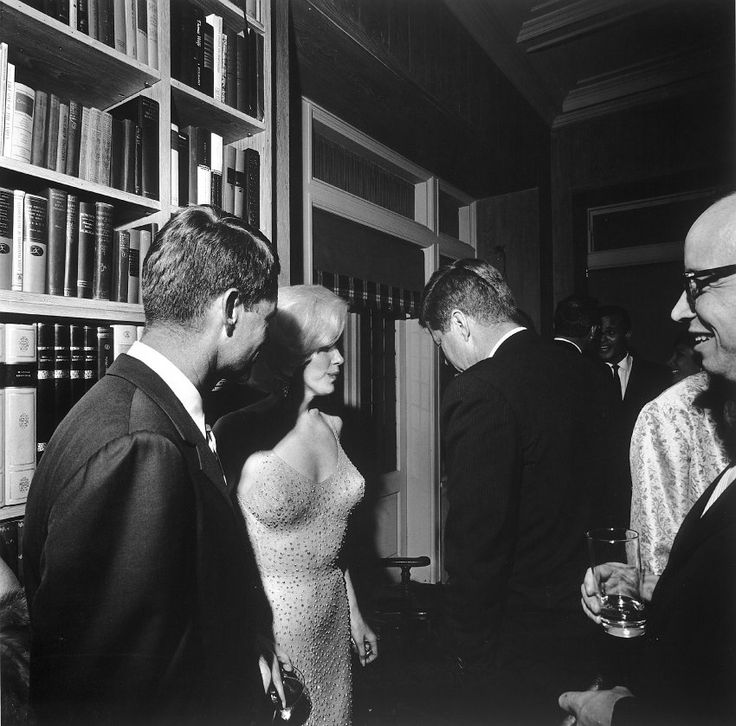 The only picture of JFK and Marilyn Monroe together.  It was taken in 1962 after his 45th birthday party.  RFK is in the picture also and hauntingly, each of them would die tragically within a five year span.