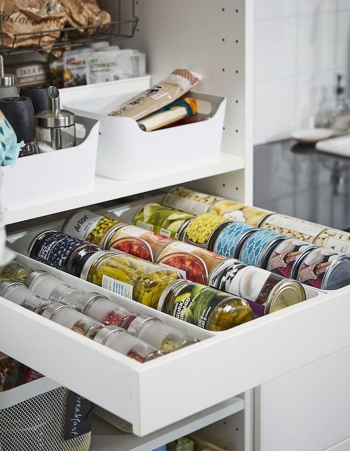 Richt Witte Ikea Maximera Lades In Met Witte Utrusta Ladefronten