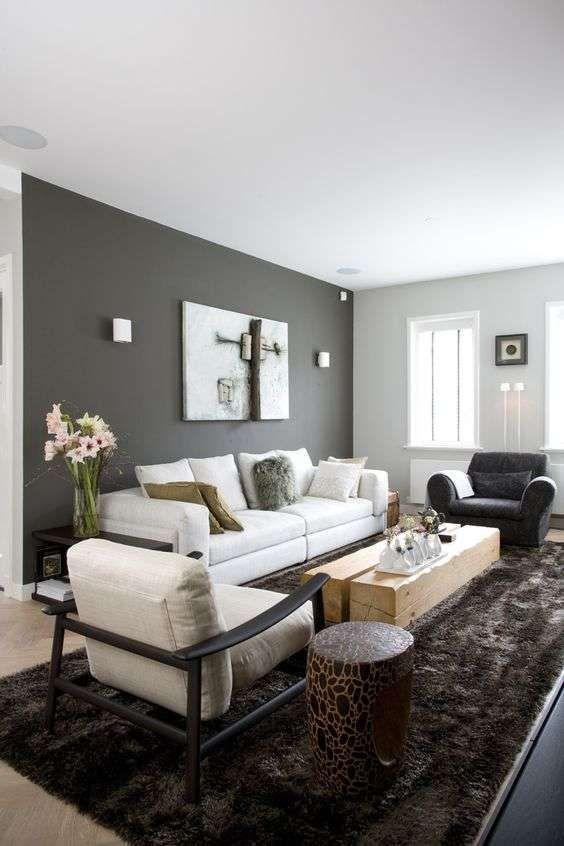 Abbinare il grigio alle pareti Dipinti soggiorno