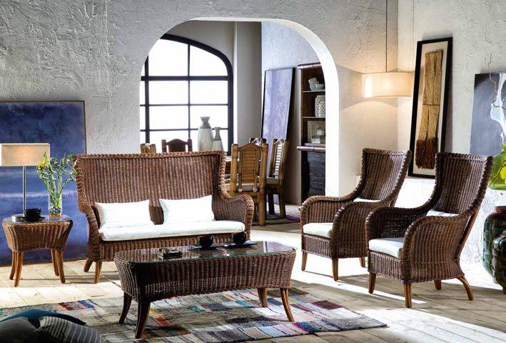 Dekoratives Sofa HAITI II aus Rattan. Ihr Online-Shop für Sofas.