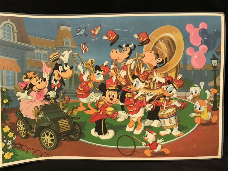 DISNEYLAND PLACE MAT, Vintage Disney placemat, Main Street Parade souvenir, vintage Disney souvenir, gift for child, Mickey Mouse gift by TheJellyJar on Etsy
