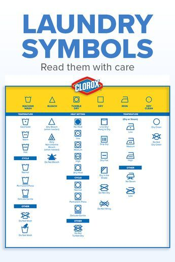 Read those labels with care! Make laundry day a breeze, with this handy Clorox guide to de-coding all those cryptic label icons.