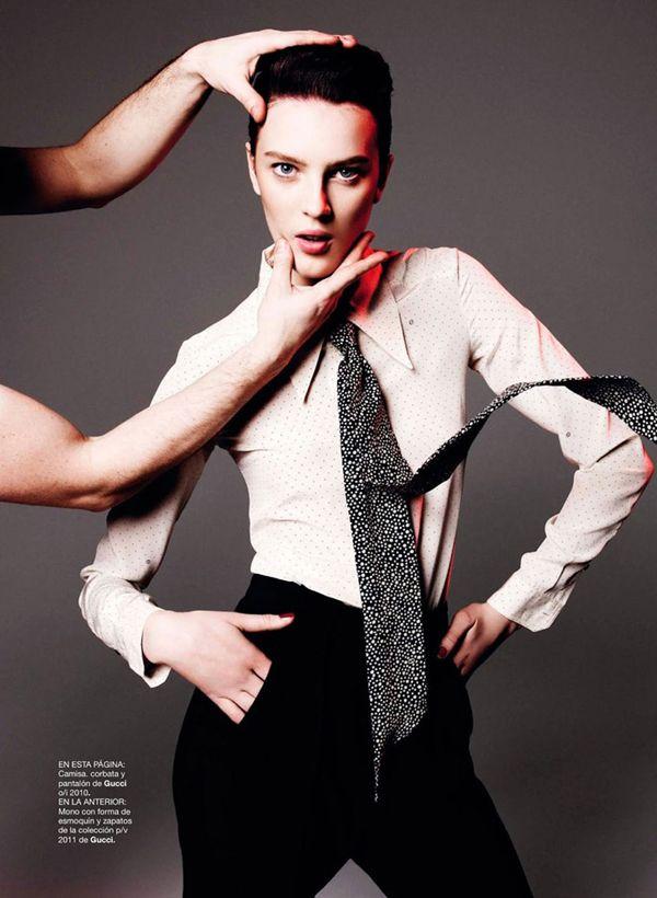 Giedre Kiaulenaite in Gucci by Nagi Sakai for Harper's Bazaar Spain March2013 - 3 Sensual Fashion Editorials | Art Exhibits - Anne of Carversville Women's News
