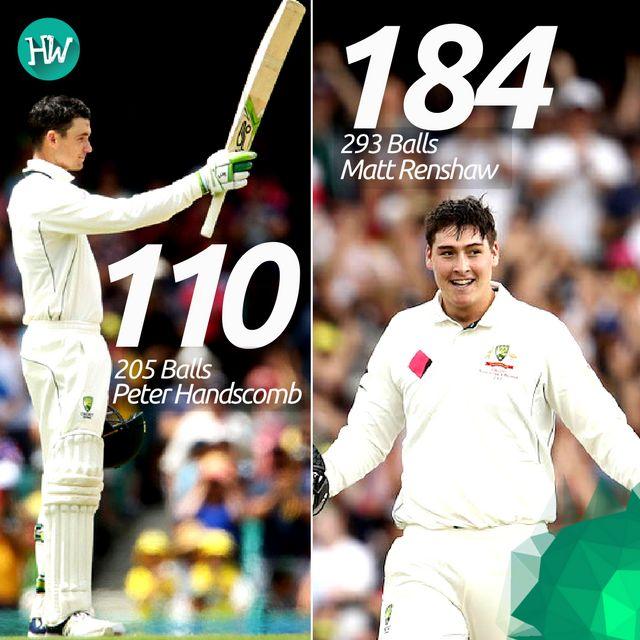 Incredible tons by the newbies! Peter Handscomb and Matt Renshaw were phenomenal! #AUSvPAK #AUS #PAK #cricket