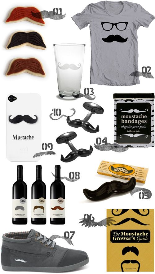 Fun mustache products!