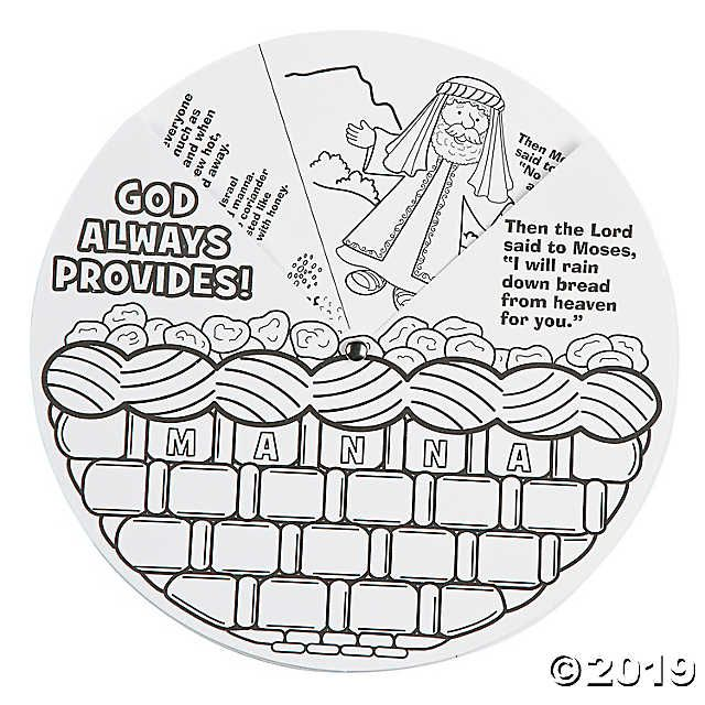Color Your Own Manna Wheels Discontinued Bible Crafts For Kids Bible Crafts Sunday School Kids