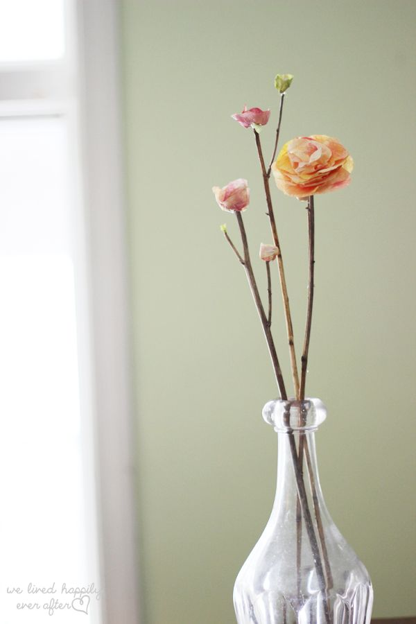 How to make flower buds & attach paper flowers onto real stems