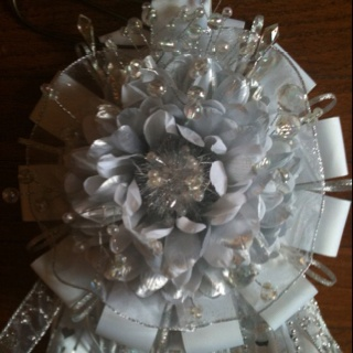 White and silver homecoming mum...(just the flower)