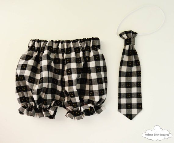 Black Boy Bloomers Tartan baby bloomer by DoloresBabyBoutique