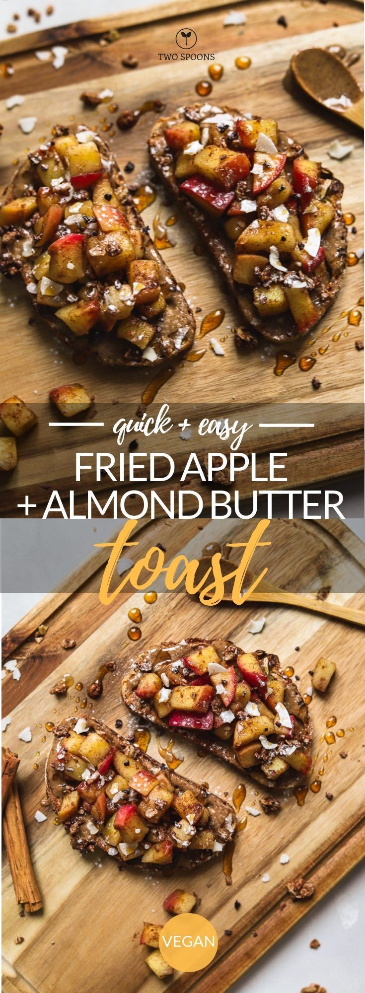 Fried Apple and Almond Butter Toast