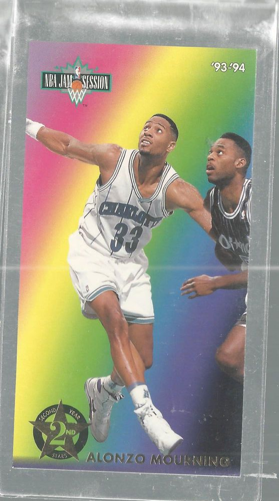 Alonzo Mourning 2nd Year Stars 6 Of 8 1993-94 Fleer Jam Session Basketball Card   | eBay