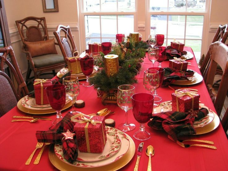 Christmas Dinner Table Decorations 178 best christmas tablescapes images on pinterest | christmas