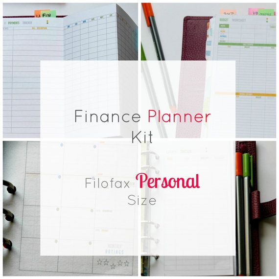 #Filofax  #personal size  #Financial #Planner #Printable  by PlanInk