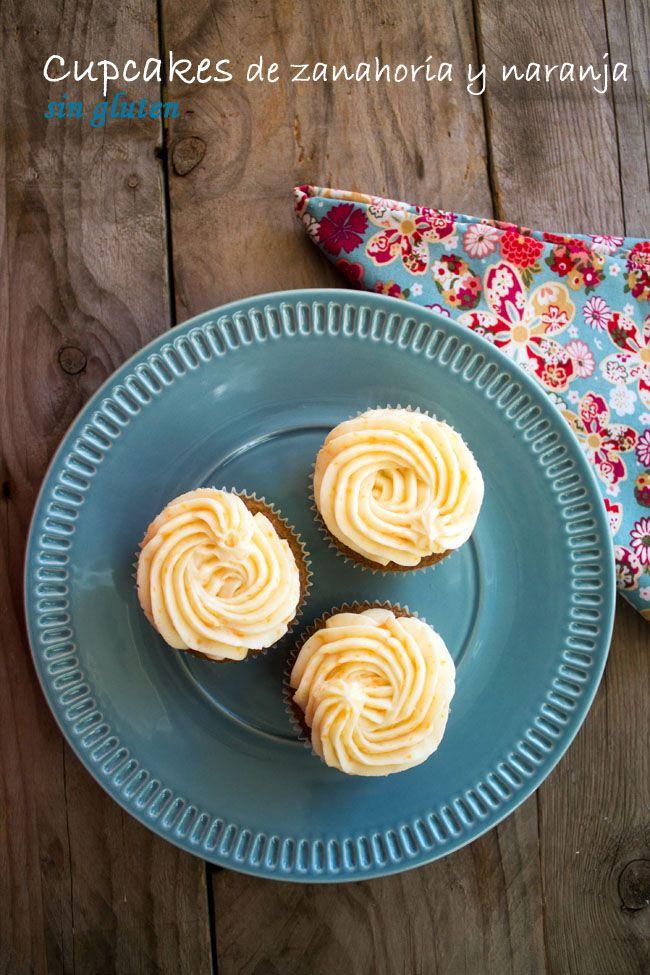 KOOKING: Cupcakes de zanahoria y naranja sin gluten