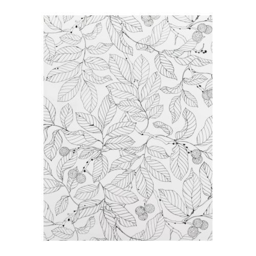 IKEA STOCKHOLM BLAD  Fabric - possible use this to cover a roller shade for the back door at G in fabric