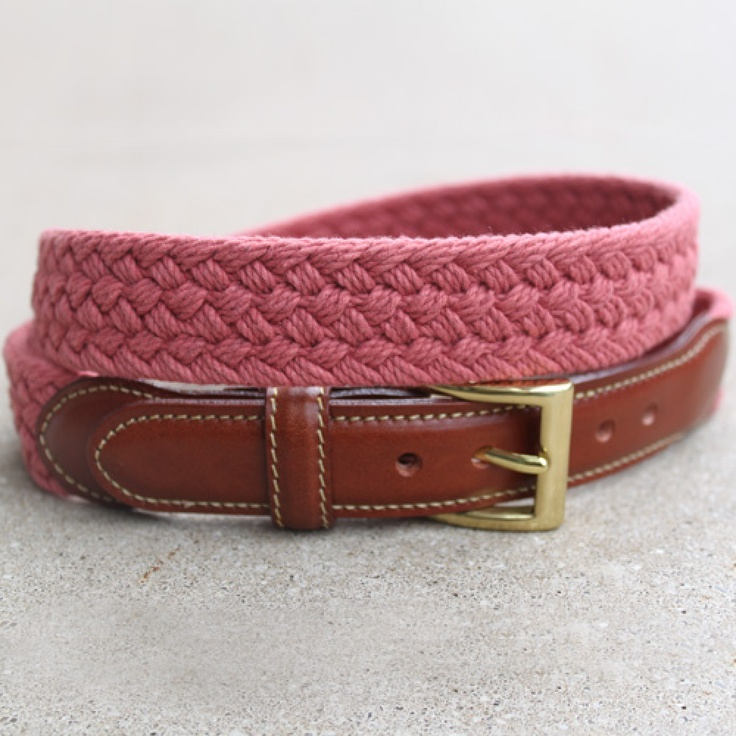 Nantucket Red - Braided Belt  TheOriginalPrep