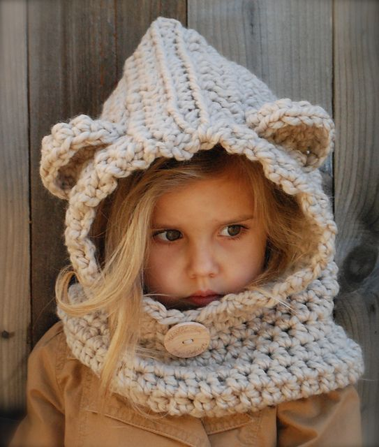 Here's the CROCHET versions! Yay! Ravelry: The Baylie Bear Cowl pattern by Heidi May