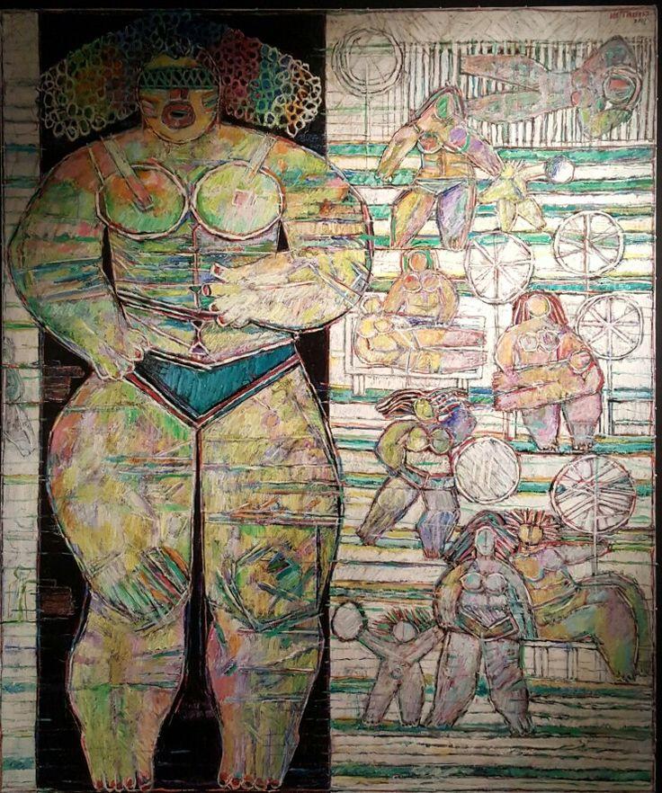 Moshe Tamir - Oil on canvas 152x128 cm