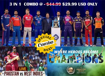 Special Combo Offer For Live Cricket HD: Get Online Cricket Streaming Live Service And Enjoy Hassle Free Broadcast