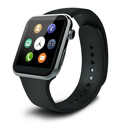 Smart Watch - Heart Rate Monitoring and Fitness tracking Bluetooth Smartwatch, Wireless Sports watch for iOS - iPhone & Android - Samsung, Galaxy, Nexus, LG, Sony smartphones (Black)   Specifications: CPU: MTK25021A Display Screen: 1.54 in