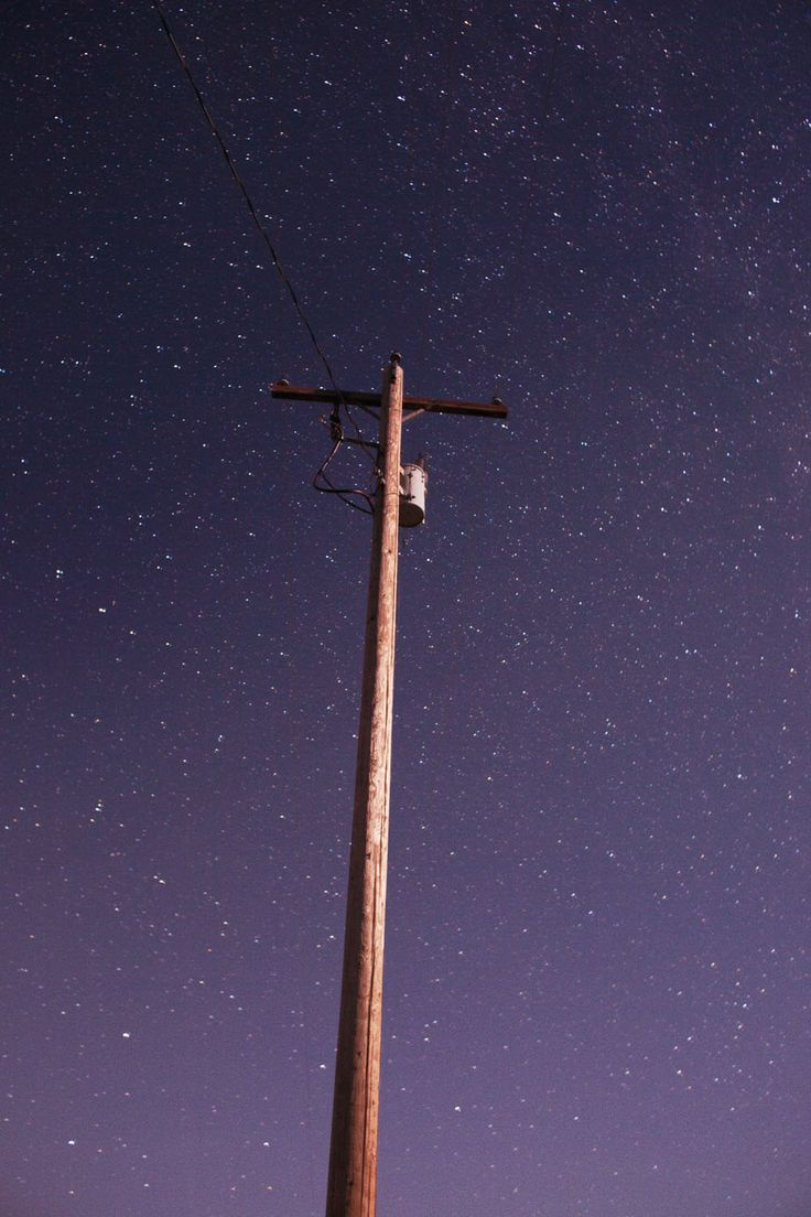 Night Sky (Telephone Pole),  2014