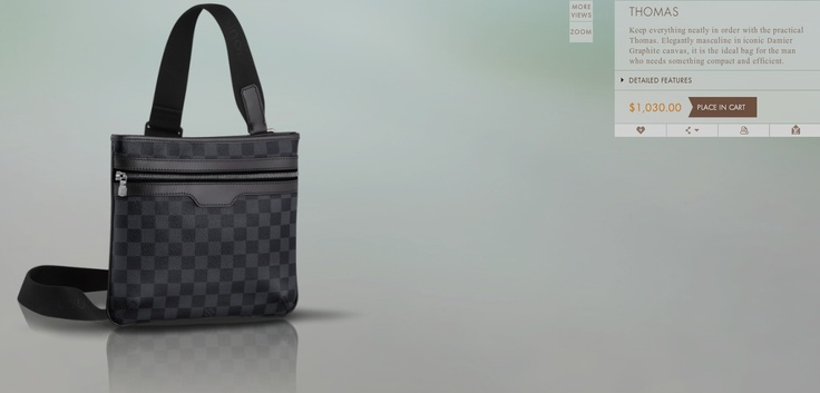 Louis Vuitton Thomas bag. It would go with my LV Damier Graphite Brazza Wallet :T