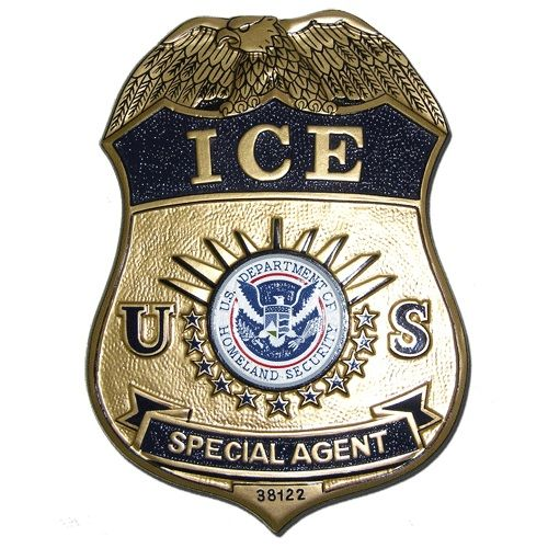DHS Agents (ICE) Department of Homeland Security replica wooden badge plaques