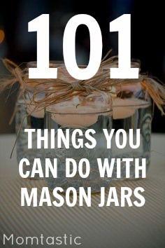 101 mason jar crafts and DIYs to inspire you!