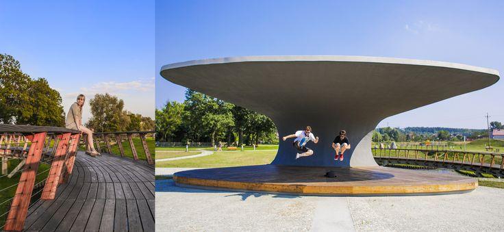 #Architektura w #KazimierzBiskupi - #park. #Architekci: Maja Szydłowska , Jakub Mojżeszek  , Piotr Szydłowski , #boomstudio // #Architecture in Kaziemierz Biskupi, #Poland - #park. #Architects: Maja Szydlowska, Jakub Mojzeszek, Piotr Szydlowski