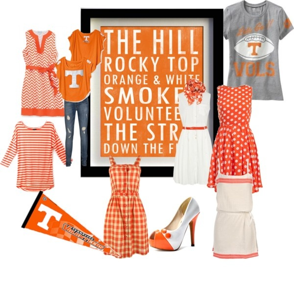 Tennessee Game Day Fashion! Those high heels are perfect! Need them for my new dress!!!! #GBO #VolNation