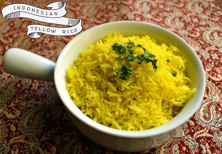 This recipe for nasi kuning yields a beautiful yellow, festive rice that's often the staple dish for many special Indonesian meals
