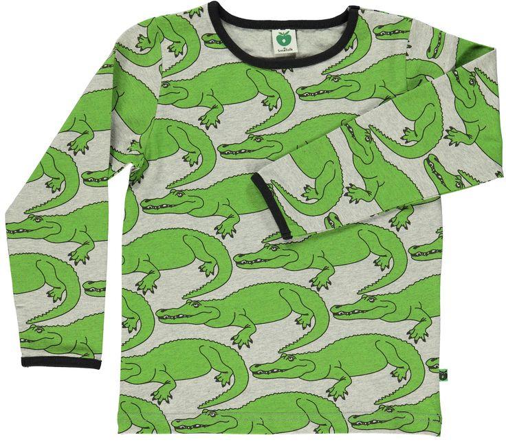 Superrrr stoere longsleeve van Smafolk. Nieuwe herfst collectie van Kind Zo Blij.  #smafolk #kindzoblij #longsleeve #webshop #aw15 #krokodillen #jongenskleding #stoer #biologischkatoen
