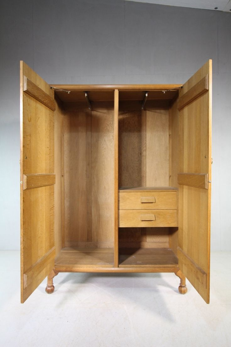 Quality Large Oak Wardrobe by Gordon Russell