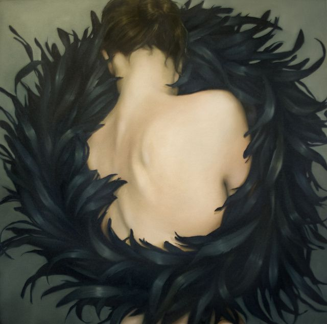 Raven embrace by Amy Judd Art, via Flickr. Brilliant painter! Very talented.