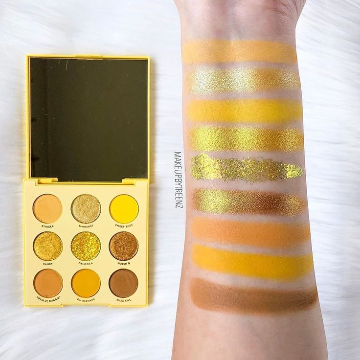 Look at these swatches eye makeup palette